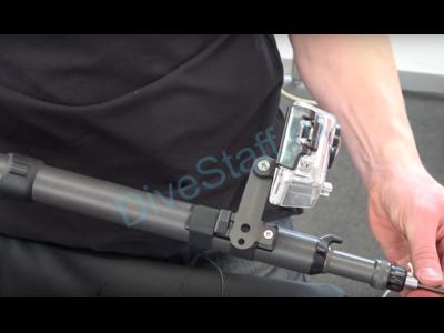 Крепление видеокамеры на подводное ружье