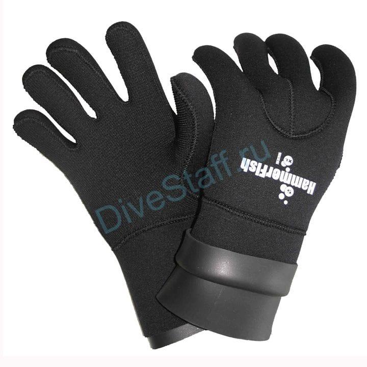 Перчатки 5мм HAMMERFISH 5-ти палые сухие