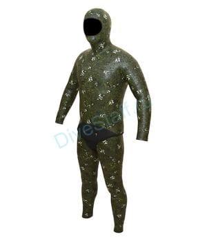 """Гидрокостюмдля подводной охоты 7 мм, """"Голый"""" (камуфляж PQS-615)"""
