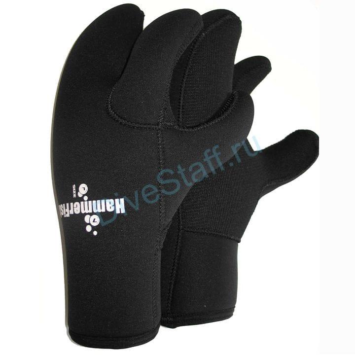 Перчатки 7мм HAMMERFISH 3-х палые мокрые