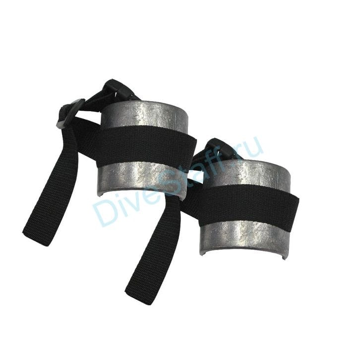 Груза ножные гнутые с ремешком, 2 шт. по 500 г