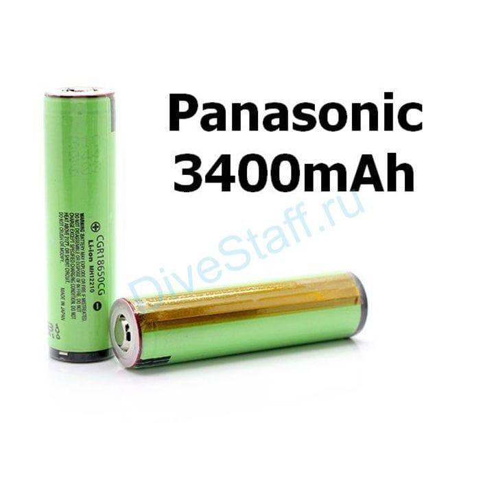 Аккумулятор PANASONIC 18650 Li-ion 3.7В 3400 mAh с защитой 1шт.