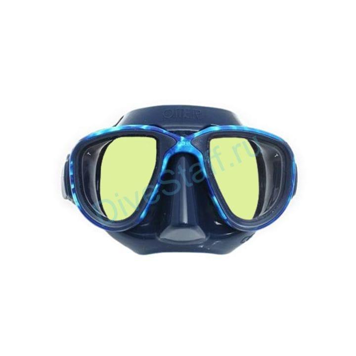 Маска Alien синий силикон/Mimetic Ocean - зеркальные линзы