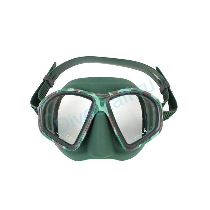 Маска Scorpena M зелёная, в коробке